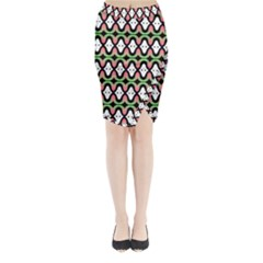 Abstract Pinocchio Journey Nose Booger Pattern Midi Wrap Pencil Skirt