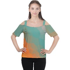 Abstract Elegant Background Pattern Women s Cutout Shoulder Tee