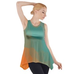 Abstract Elegant Background Pattern Side Drop Tank Tunic