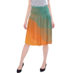 Abstract Elegant Background Pattern Midi Beach Skirt