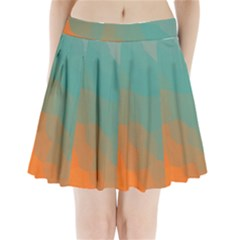Abstract Elegant Background Pattern Pleated Mini Skirt