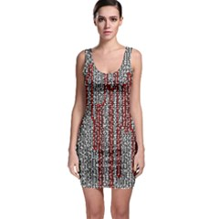 Abstract Geometry Machinery Wire Sleeveless Bodycon Dress