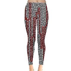 Abstract Geometry Machinery Wire Leggings