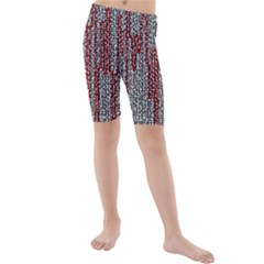 Abstract Geometry Machinery Wire Kids  Mid Length Swim Shorts