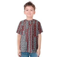 Abstract Geometry Machinery Wire Kids  Cotton Tee