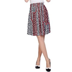 Abstract Geometry Machinery Wire A-Line Skirt