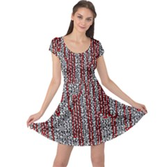 Abstract Geometry Machinery Wire Cap Sleeve Dresses