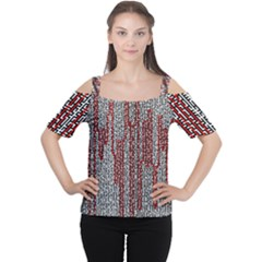 Abstract Geometry Machinery Wire Women s Cutout Shoulder Tee