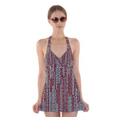 Abstract Geometry Machinery Wire Halter Swimsuit Dress