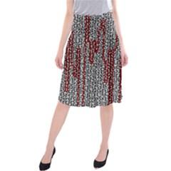 Abstract Geometry Machinery Wire Midi Beach Skirt