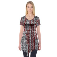 Abstract Geometry Machinery Wire Short Sleeve Tunic