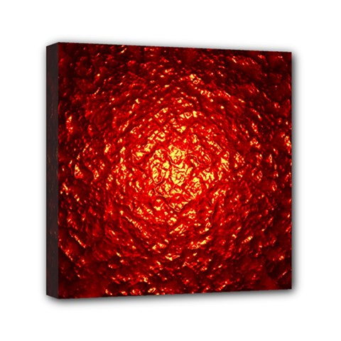 Abstract Red Lava Effect Mini Canvas 6  X 6