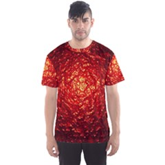 Abstract Red Lava Effect Men s Sport Mesh Tee