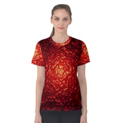 Abstract Red Lava Effect Women s Cotton Tee