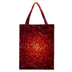 Abstract Red Lava Effect Classic Tote Bag