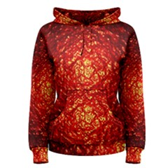 Abstract Red Lava Effect Women s Pullover Hoodie
