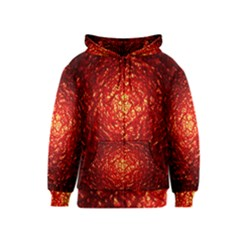 Abstract Red Lava Effect Kids  Zipper Hoodie