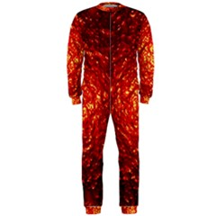 Abstract Red Lava Effect OnePiece Jumpsuit (Men)