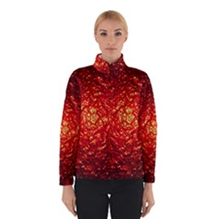 Abstract Red Lava Effect Winterwear