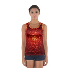 Abstract Red Lava Effect Women s Sport Tank Top