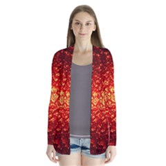 Abstract Red Lava Effect Cardigans