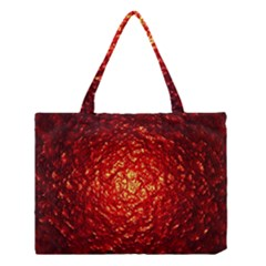 Abstract Red Lava Effect Medium Tote Bag