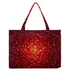 Abstract Red Lava Effect Medium Zipper Tote Bag