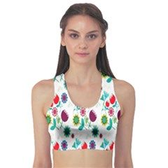 Lindas Flores Colorful Flower Pattern Sports Bra
