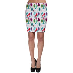 Lindas Flores Colorful Flower Pattern Bodycon Skirt