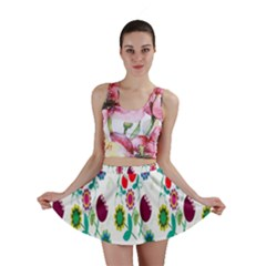 Lindas Flores Colorful Flower Pattern Mini Skirt