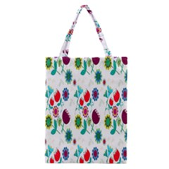 Lindas Flores Colorful Flower Pattern Classic Tote Bag