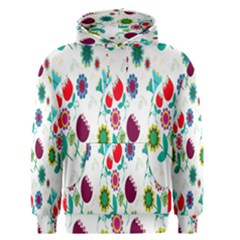 Lindas Flores Colorful Flower Pattern Men s Pullover Hoodie