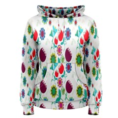 Lindas Flores Colorful Flower Pattern Women s Pullover Hoodie