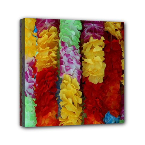 Colorful Hawaiian Lei Flowers Mini Canvas 6  X 6