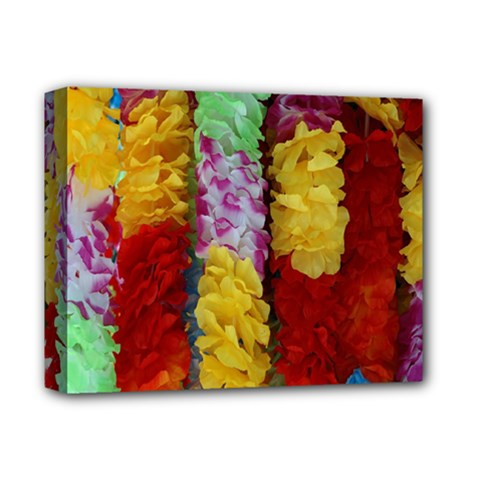 Colorful Hawaiian Lei Flowers Deluxe Canvas 14  x 11