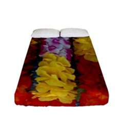 Colorful Hawaiian Lei Flowers Fitted Sheet (full/ Double Size)