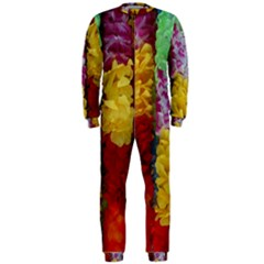 Colorful Hawaiian Lei Flowers OnePiece Jumpsuit (Men)