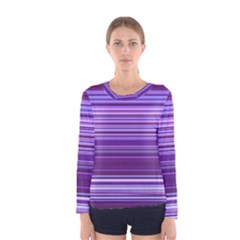 Stripe Colorful Background Women s Long Sleeve Tee