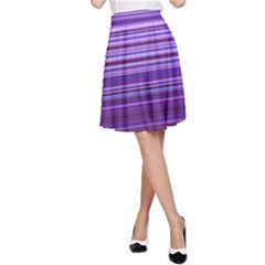 Stripe Colorful Background A Line Skirt