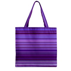 Stripe Colorful Background Zipper Grocery Tote Bag
