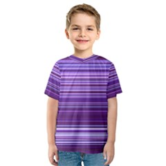 Stripe Colorful Background Kids  Sport Mesh Tee