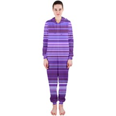Stripe Colorful Background Hooded Jumpsuit (Ladies)