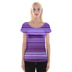 Stripe Colorful Background Women s Cap Sleeve Top