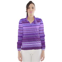 Stripe Colorful Background Wind Breaker (women)