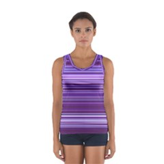 Stripe Colorful Background Women s Sport Tank Top