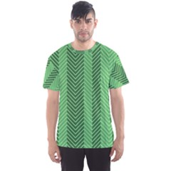Green Herringbone Pattern Background Wallpaper Men s Sport Mesh Tee