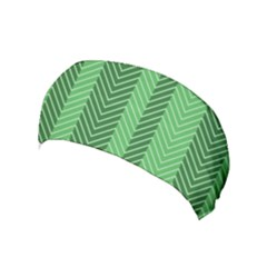 Green Herringbone Pattern Background Wallpaper Yoga Headband