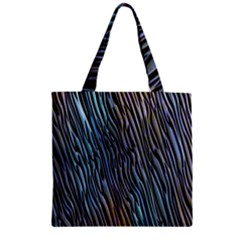 Abstract Background Wallpaper Zipper Grocery Tote Bag