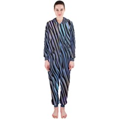 Abstract Background Wallpaper Hooded Jumpsuit (ladies)