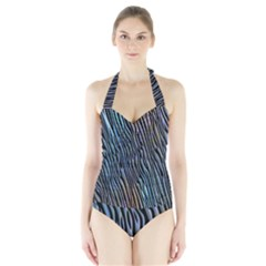 Abstract Background Wallpaper Halter Swimsuit